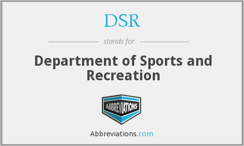 DSR - Department of Sports and Recreation