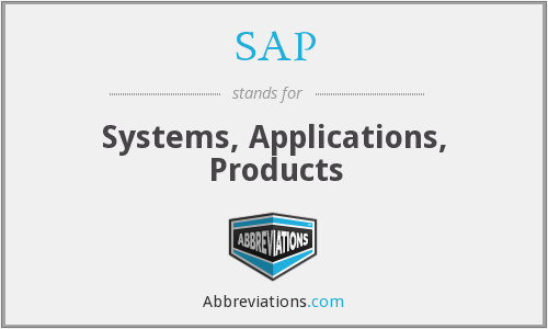 SAP - Systems, Applications, Products