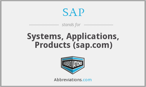 SAP - Systems, Applications, Products (sap.com)
