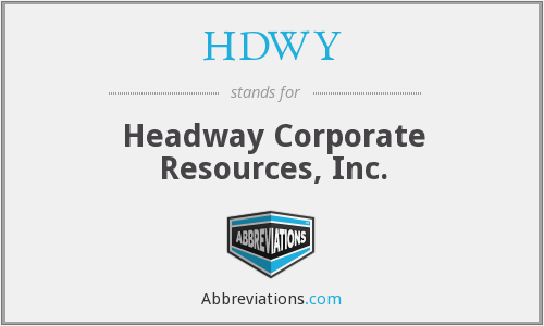 What does HDWY stand for?