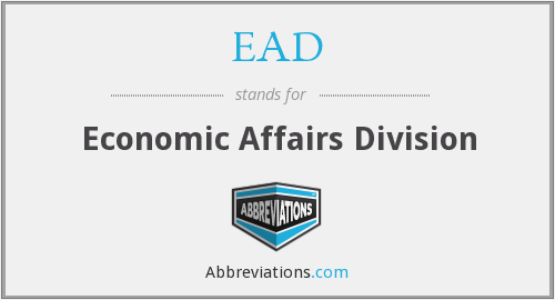 EAD - Economic Affairs Division