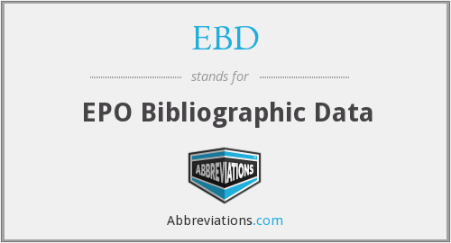 EBD - EPO Bibliographic Data