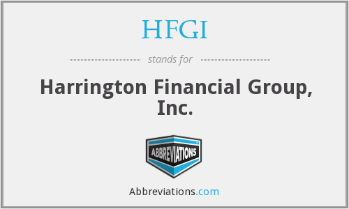 HFGI - Harrington Financial Group, Inc.