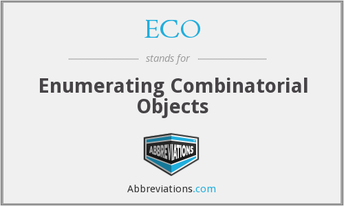 ECO - Enumerating Combinatorial Objects