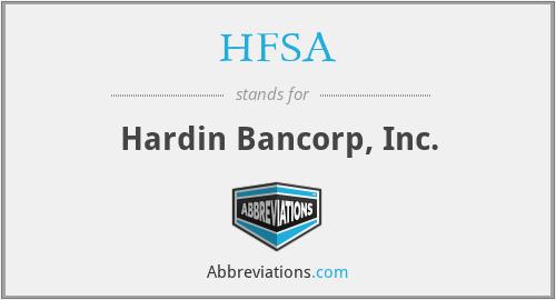 HFSA - Hardin Bancorp, Inc.