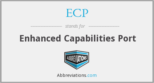 ECP - Enhanced Capabilities Port