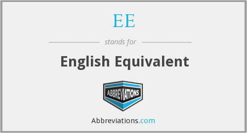 EE - English Equivalent