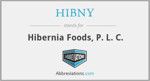 HIBNY - Hibernia Foods, P. L. C.