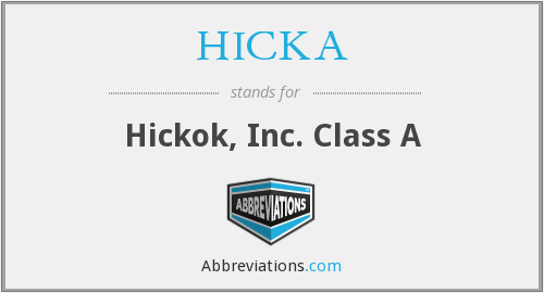 HICKA - Hickok, Inc. Class A