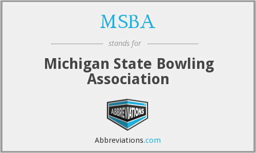 MSBA - Michigan State Bowling Association