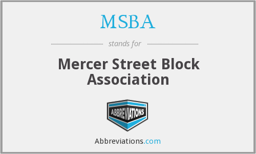 MSBA - Mercer Street Block Association