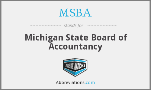 MSBA - Michigan State Board of Accountancy