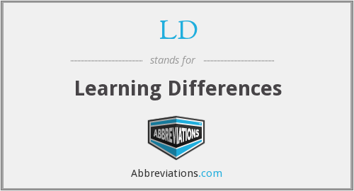 LD - Learning Differences