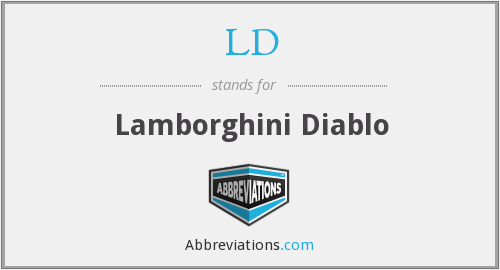 LD - Lamborghini Diablo