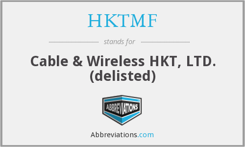 What does HKTMF stand for?