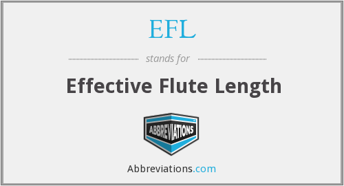EFL - Effective Flute Length