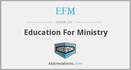 EFM - Education For Ministry
