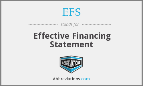 EFS - Effective Financing Statement