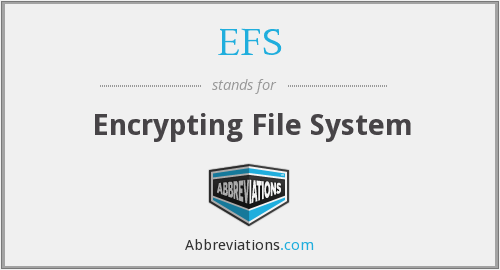 EFS - Encrypting File System