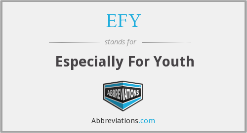 What does EFY stand for?