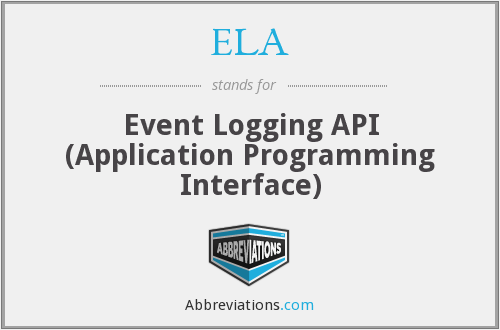 ELA - Event Logging Api