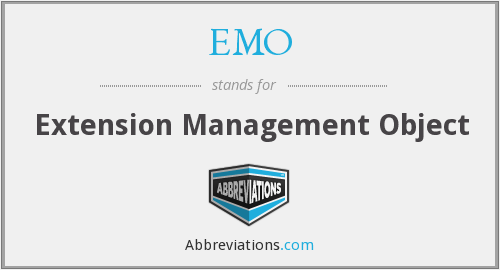 EMO - Extension Management Object