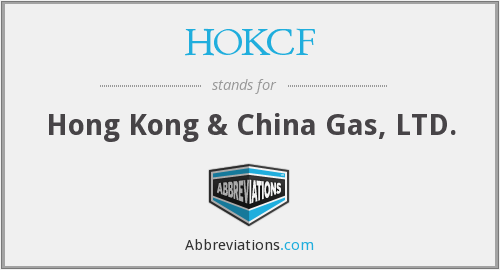 HOKCF - Hong Kong & China Gas, LTD.