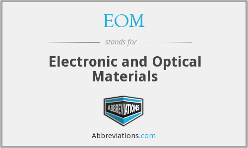 EOM - Electronic and Optical Materials
