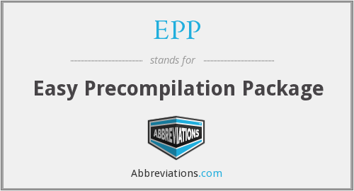 EPP - Easy Precompilation Package