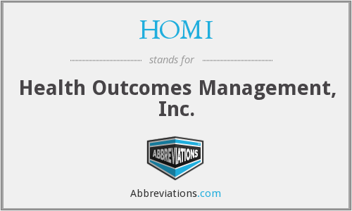 HOMI - Health Outcomes Management, Inc.
