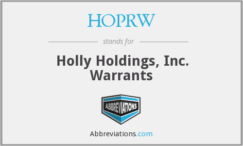 What does HOPRW stand for?