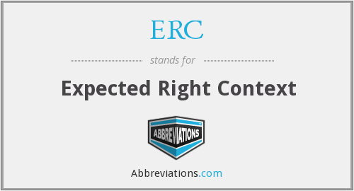 ERC - Expected Right Context