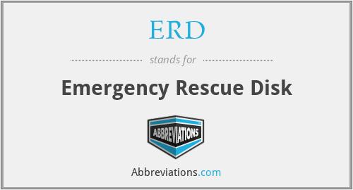 ERD - Emergency Rescue Disk