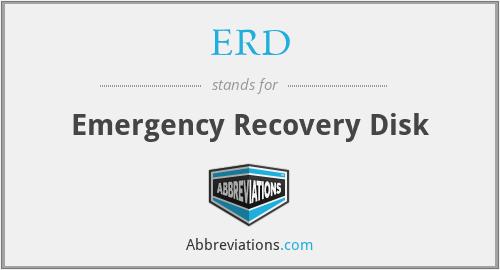 ERD - Emergency Recovery Disk