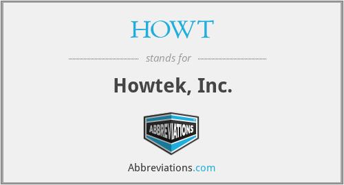 HOWT - Howtek, Inc.