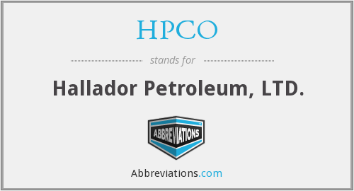 HPCO - Hallador Petroleum, LTD.