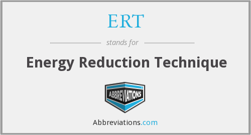 ERT - Energy Reduction Technique
