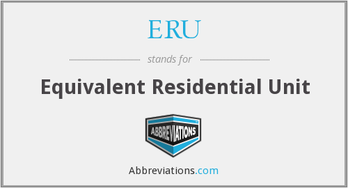 ERU - Equivalent Residential Unit