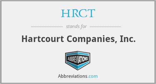 HRCT - Hartcourt Companies, Inc.
