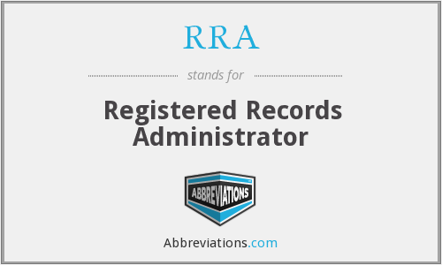 RRA - Registered Records Administrator