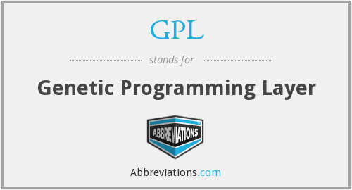 GPL - Genetic Programming Layer