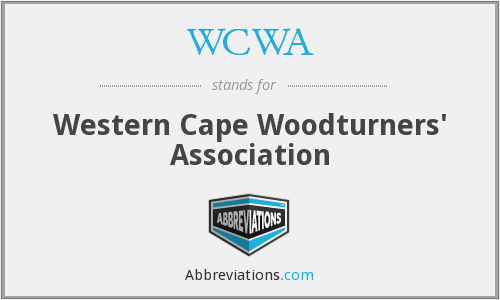 WCWA - Western Cape Woodturners' Association