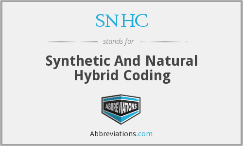 SNHC - Synthetic And Natural Hybrid Coding