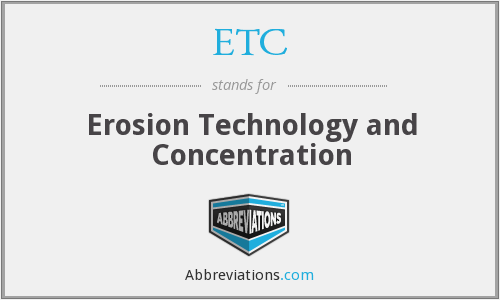 ETC - Erosion Technology and Concentration