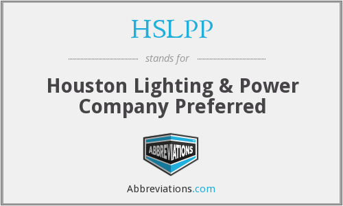 What does HSLPP stand for?