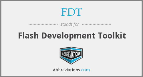 FDT - Flash Development Toolkit