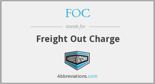 FOC - Freight Out Charge