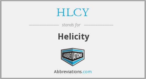 What does HLCY stand for?