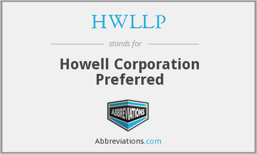 What does HWLLP stand for?