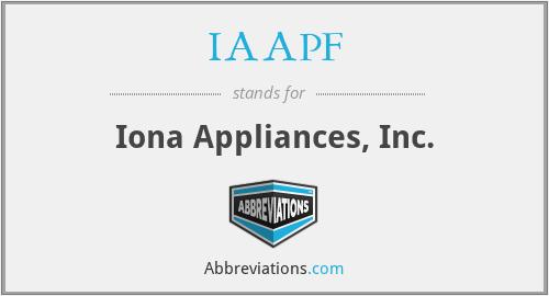 IAAPF - Iona Appliances, Inc.